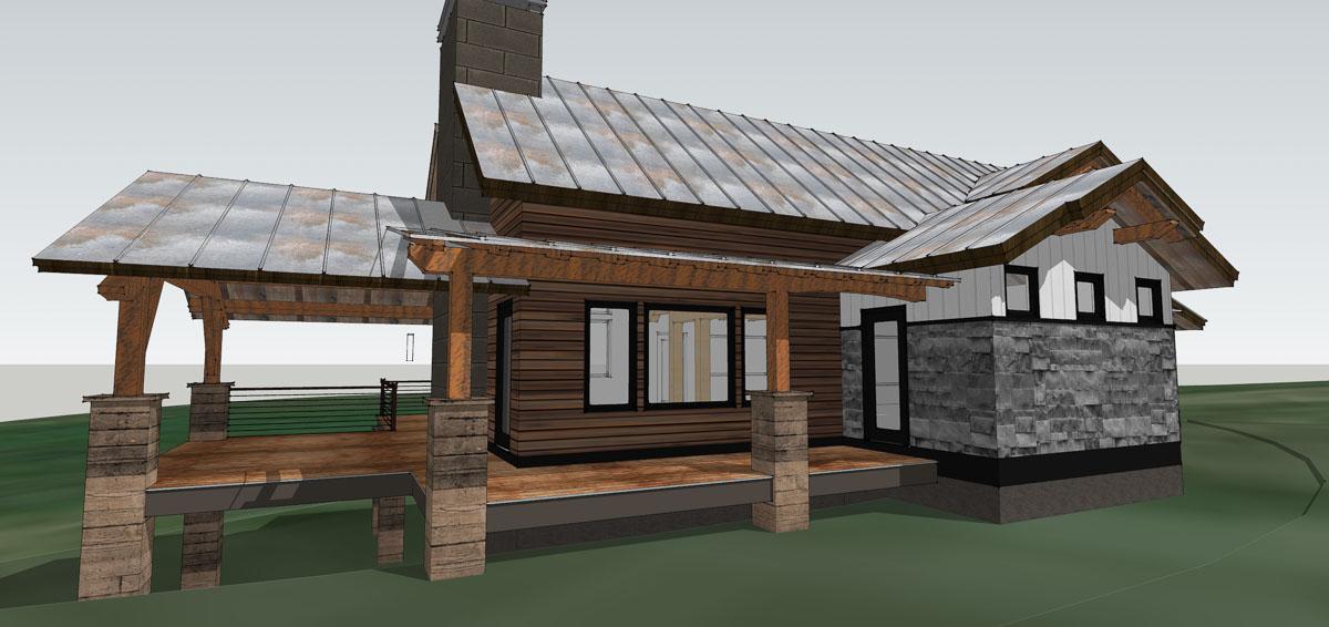 3 D Model Of Our Cabin Timber Frame Design