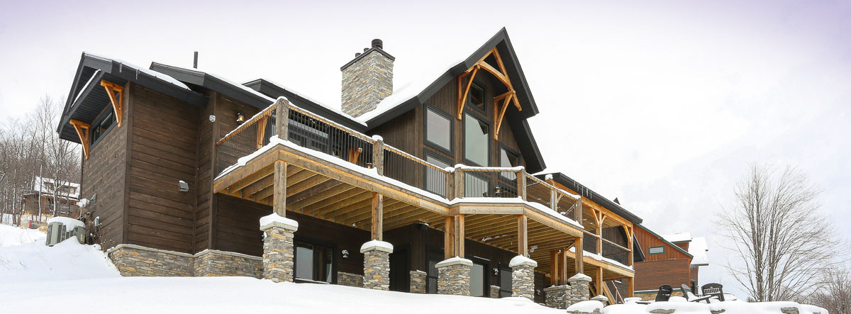 timber home design. Snow covered timber home Timber Frame Home Designs  Timberbuilt The Olive
