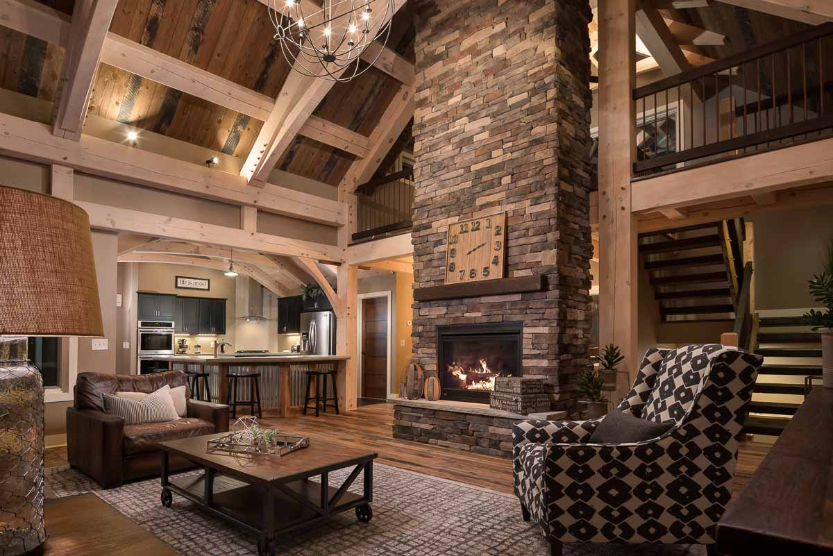 Timber frame home designs timberbuilt the olive for Timber built