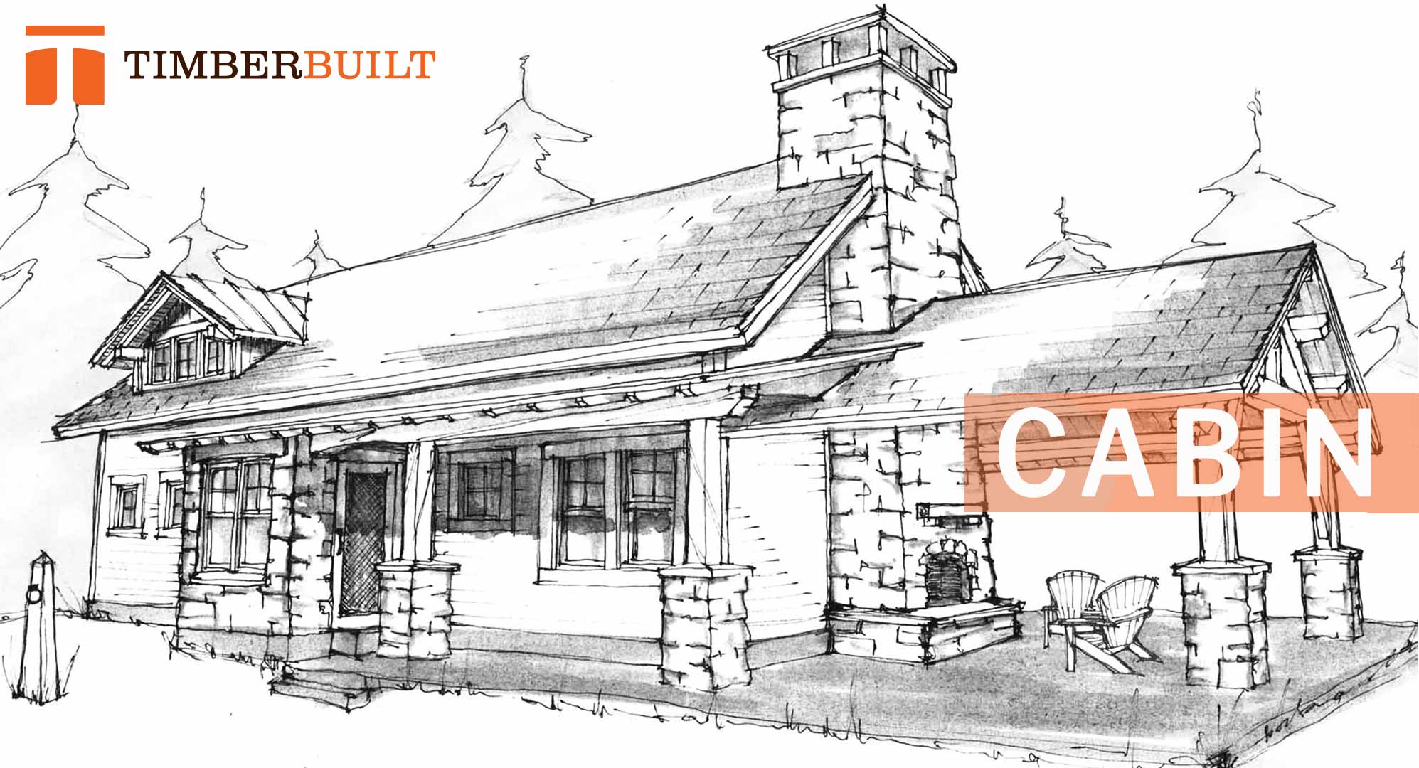 timber frame home design. Our cabin timber frame design featuring a fireplace and porch Timber Frame Home Designs  Cabin Timberbuilt