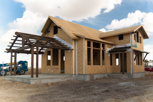 completed timber frame and SIP panel home in Florida