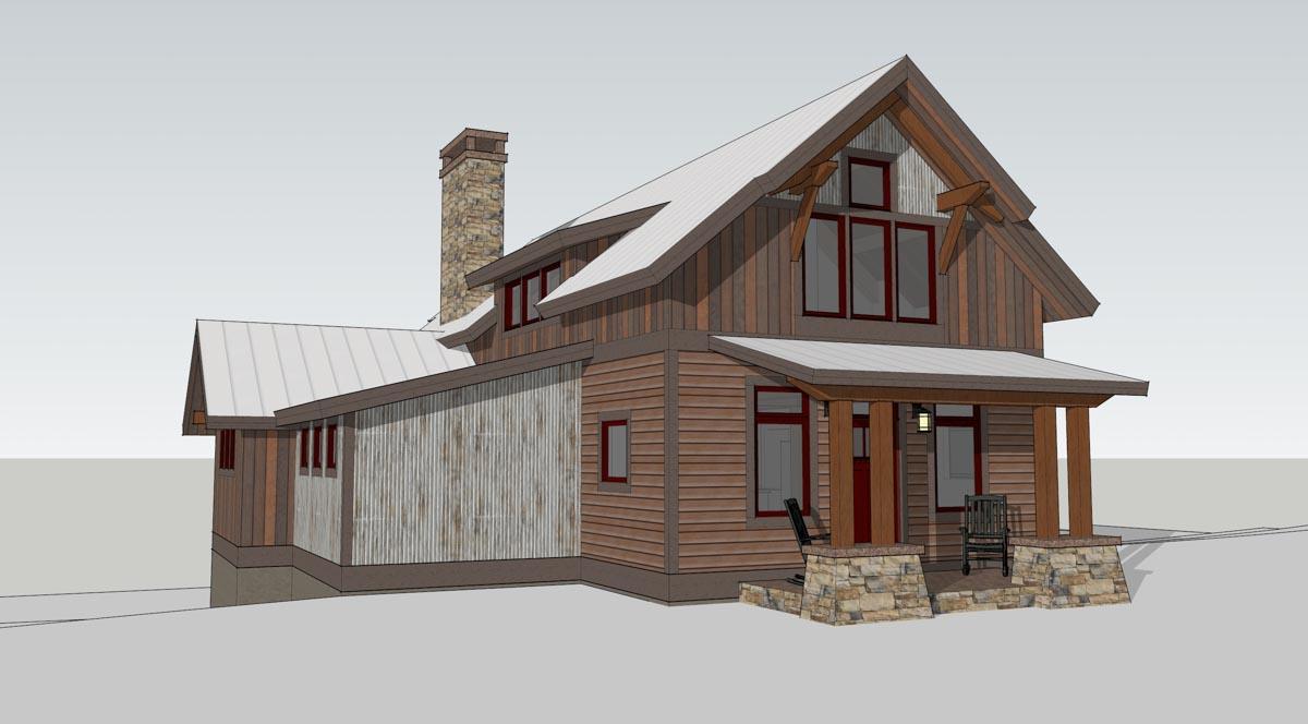 Timber frame home designs lake cottage timberbuilt - Timberframe house plans elegance of simple designs ...