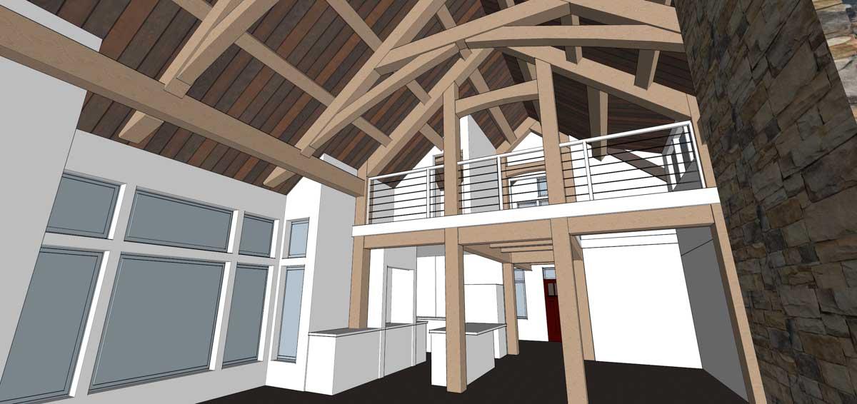 Timber Frame Home Designs Lake Cottage Timberbuilt