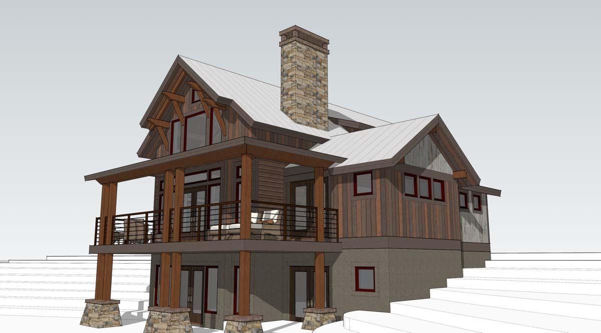 Timber frame home designs lake cottage timberbuilt for Simple timber frame homes