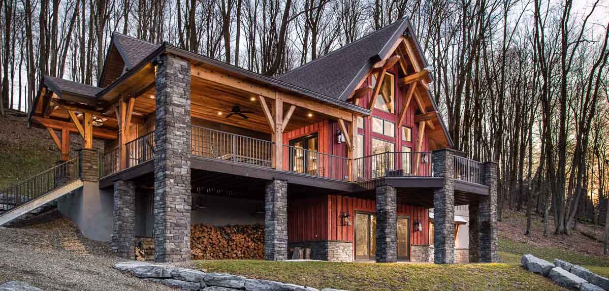 Timber Frame Home Designs | Marshal | Timberbuilt