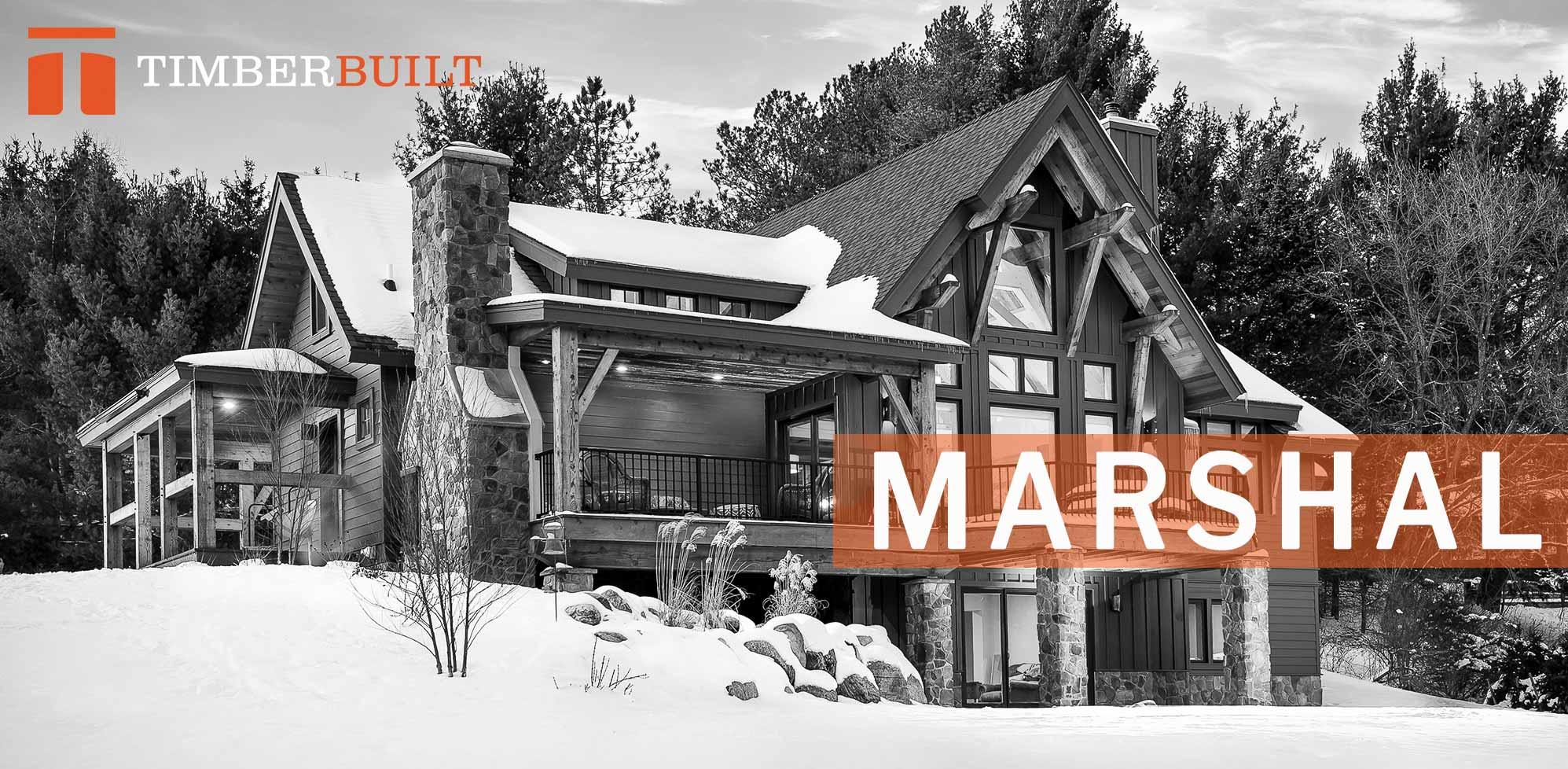 Timber Frame Home Designs | Marshal | Timberbuilt