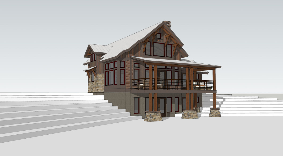 Lake Cottage | Timber Frame Home Designs | Timberbuilt